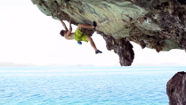 james pearson hanging edge of rock